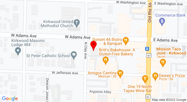 Google Map of 214 N Clay Ave Suite 140 St. Louis MO